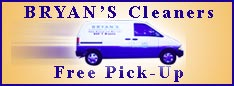 BRYAN'S Cleaners Free Pick-Up